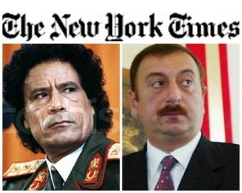 """""""New York Times"""" Əliyevləri Qəzzafi ilə eyniləşdirdi"""