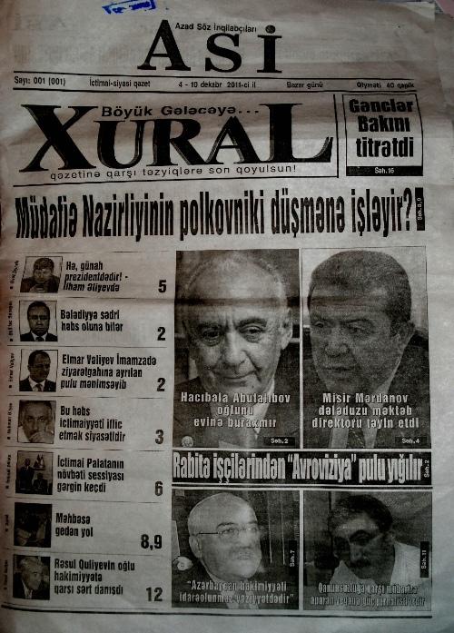 """Dövlət nəşriyyatı """"ASİ"""" qəzetini çap etməkdən imtina etdi"""