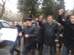 """Bakının mərkəzində """"Vasif Talıbova istefa!"""" şüarları səsləndirildi"""