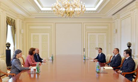 Azərbaycan Prezidenti İlham Əliyev Kolumbiyanın xarici işlər nazirinin başçılıq etdiyi nümayəndə heyətini qəbul edib