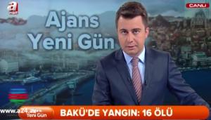 Bakıdakı yanğın xarici mediada - VİDEO
