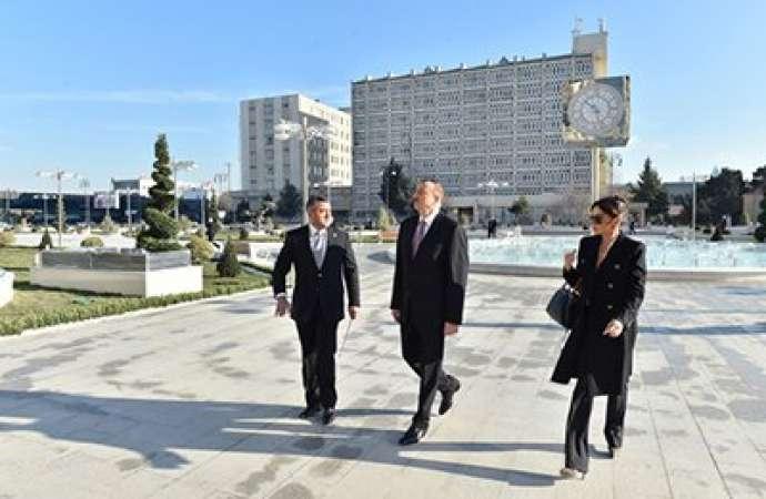 """İlham Əliyev """"İnturist"""" otelinin açılışında"""