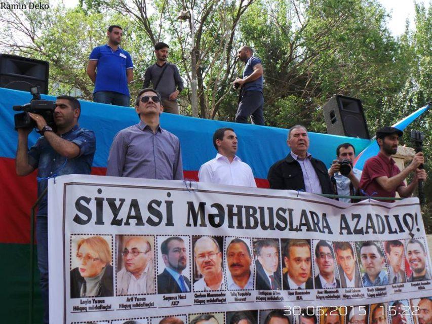 """Milli Şuranın """"Xilas olaq!"""" mitinqi baş tutdu - FOTO+VİDEO"""