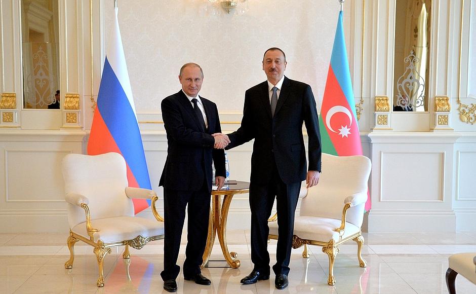 Azərbaycan və Rusiya prezidentləri görüşdü