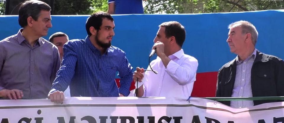 Milli Şuranın mitinqinin sürpriz qonağı - VİDEO