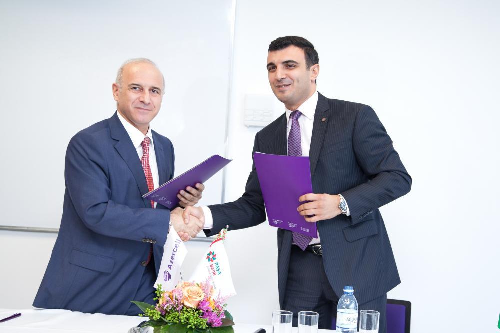 Azercell-in Barama mərkəziPAŞA Bank ilə əməkdaşlıq memorandumu imzalayır