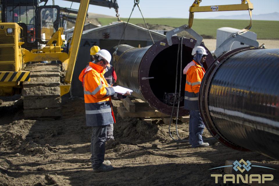 TANAP-ın inşası rekord sürətlə gedir - FOTO