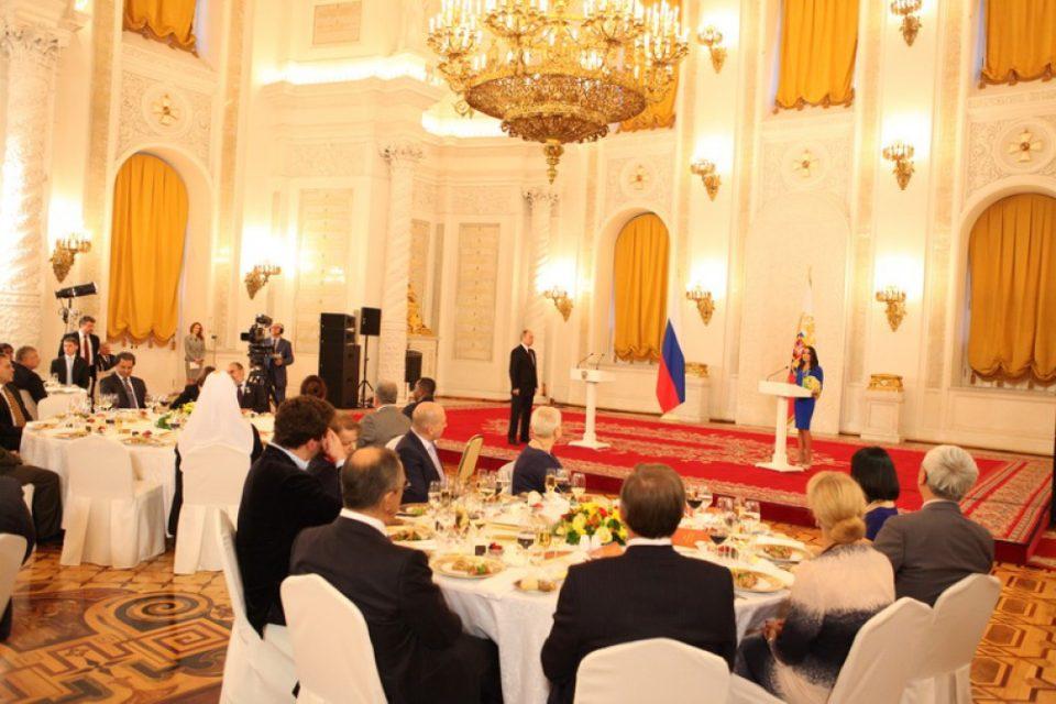 Putin Leyla Əliyevaya mükafat verdi - FOTO, VİDEO