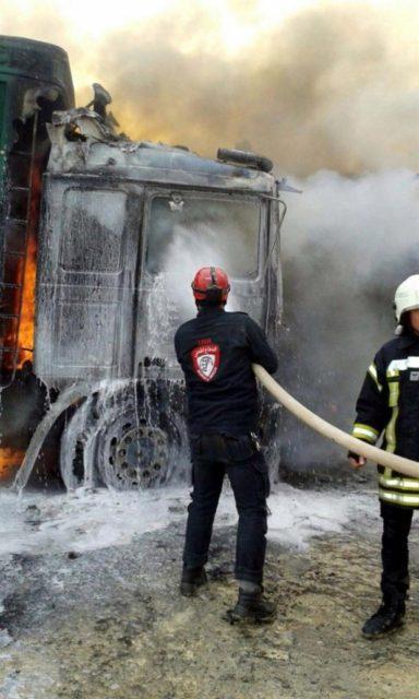 Rus təyyarələri Türkiyə karvanına hücum etdi: 7 ölü, 10 yaralı