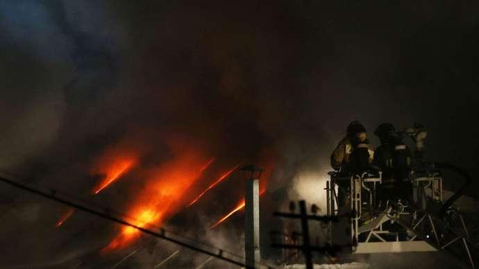 Moskvada güclü yanğın: 9 nəfər ölüb - VIDEO