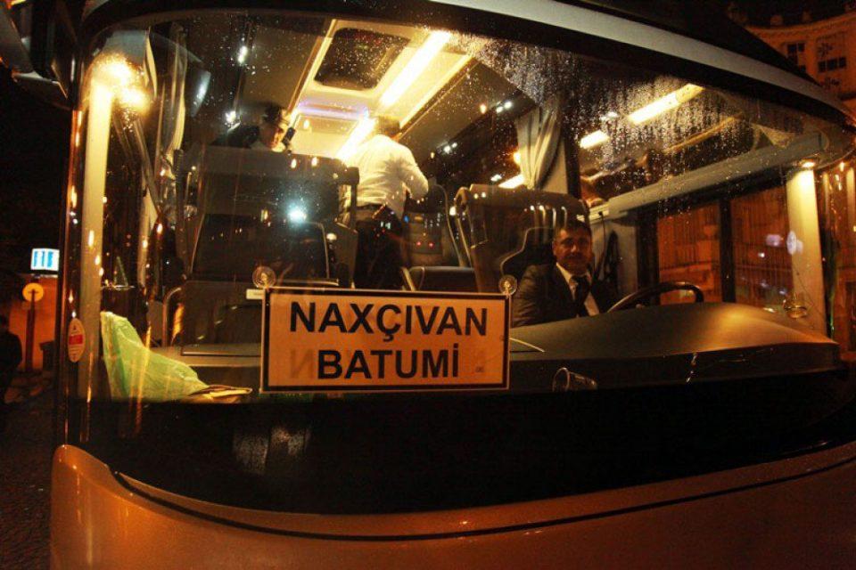 Naxçıvan-Batumi avtobusu Batumiyə çatdı
