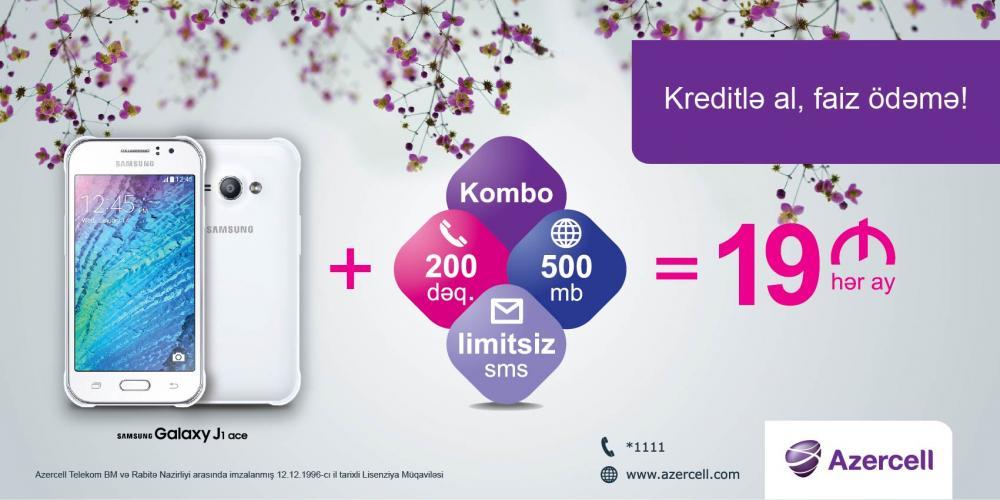 19 manata Samsung J1 Ace mobil telefonunu qazanmaq imkanı