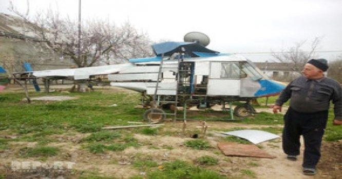 Qusar rayon sakini helikopter düzəldib.