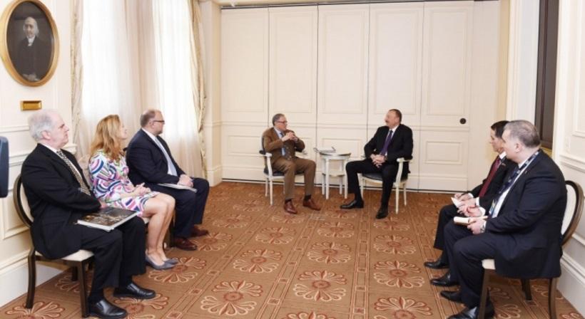 """Azərbaycan prezidenti ABŞ-ın """"Export-Import"""" bankının sədri ilə görüşüb"""