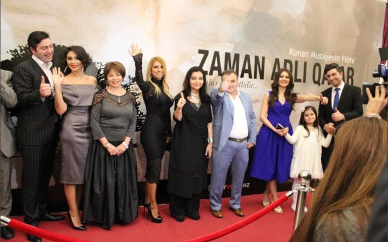 """Nizami Kinoteatrında """"Zaman adlı qatar"""" filminin qala-gecəsi keçirilib"""