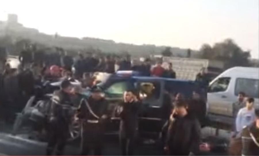21 nəfərin yaralandığı qəzanın təfərrüatları - YENİ GÖRÜNTÜLƏR FOTO/VİDEO