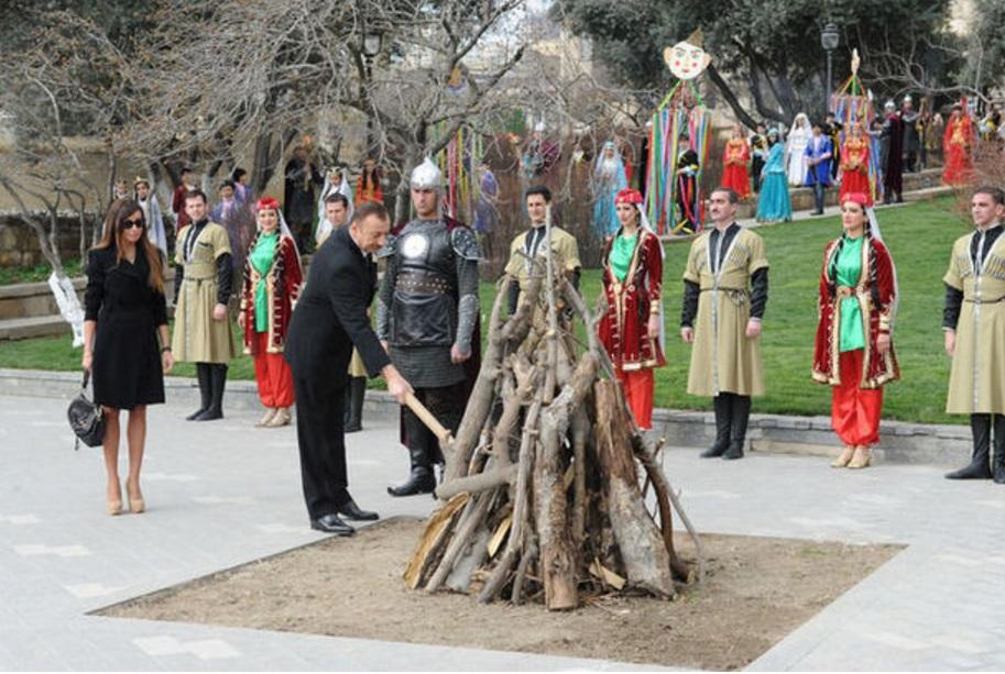 Prezident İlham Əliyev Novruz şənliyində iştirak edib
