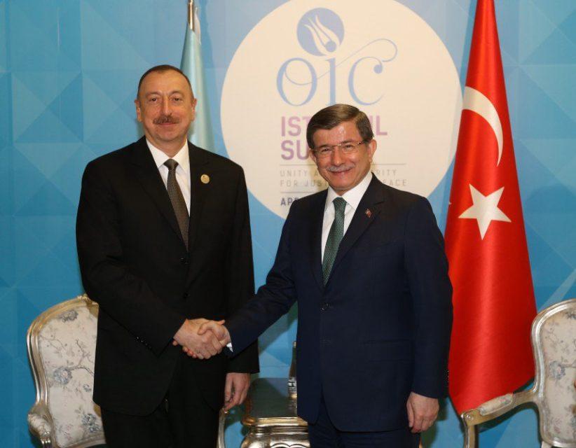 İlham Əliyev Davudoğlu ilə görüşdü - FOTOLAR