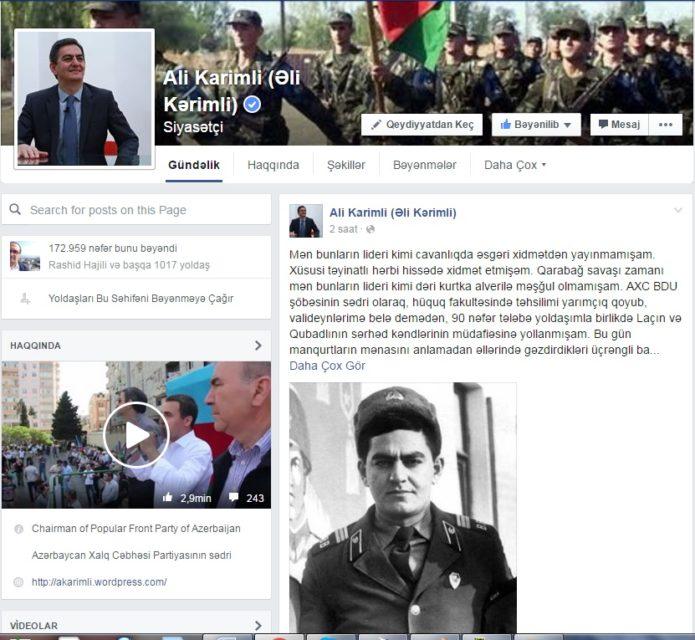 Əli Kərimli: ''Ordumuza ''dur!'' əmrini mən vermişəm, yoxsa İlham Əliyev?''