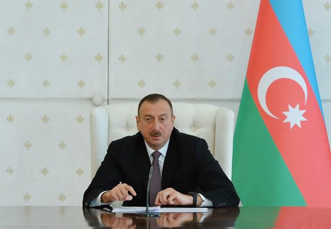 """Prezident İlham Əliyev:""""Dünyaya haray çəkirlər ki, Azərbaycan atəşkəsi pozur"""""""