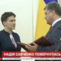 «Savçenkonu qaytardığımız kimi, Krımı və Donbası da geri alacağıq!» – Poroşenko ukraynalı pilotu təltif etdi