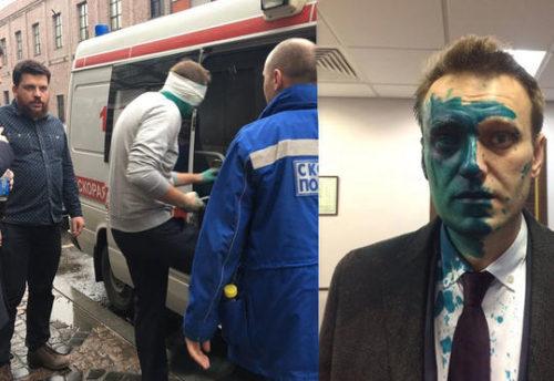 Navalnıy hücuma məruz qaldı