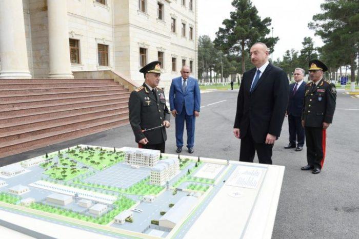 Azərbaycan prezidenti Daxili Qoşunların Şirvandakı hərbi hissəsinin açılışında iştirak edib