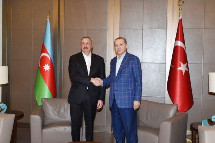 Prezident İlham Əliyev Rəcəb Tayyib Ərdoğanla görüşüb