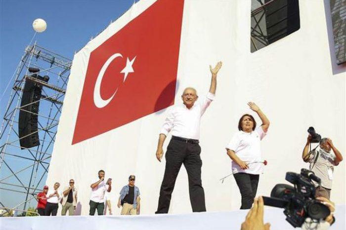 CHP liderinin Ankaradan İstanbula yürüşü başa çatıb