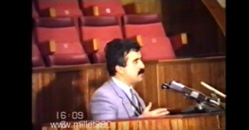 Etibar Məmmədovun 1990-cı ildəki çıxışı-VİDEO