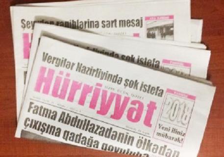 """""""Hürriyyət"""" qəzeti KİVDF-dən imtina etdi-Prezidentə müraciət olundu!"""
