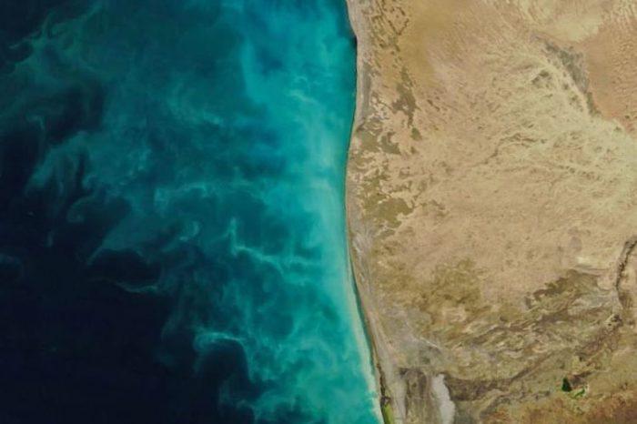 NASA Xəzər dənizində baş verən anomal təbii prosesin görüntüsünü yayıb- FOTO