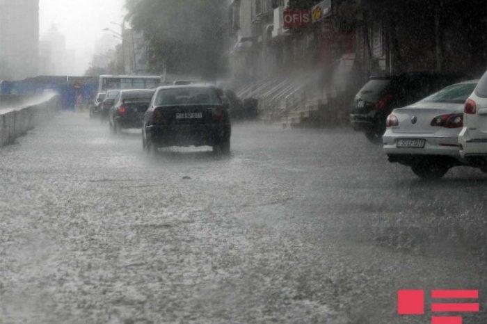 Yağış yağacaq, bəzi yerlərdə intensiv olacaq, dolu düşəcək