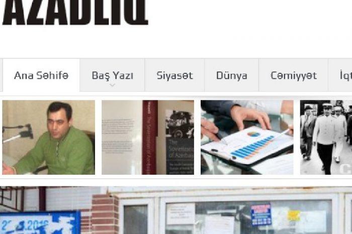 Azadliq.info saytının üzərindən bloklanma götürülüb