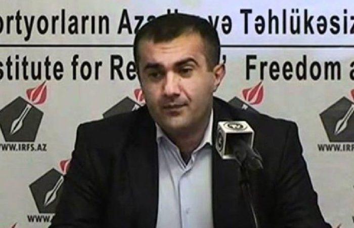 Cavid Şirəliyev Jurnalist azadlığa buraxılıb