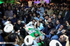 İsrailin raket zərbələrinə tuş gələn İran zabitlərinin dəfni