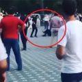 Gəncədə polislərdən birinin öldürülmə anı – VİDEO